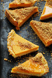 Butternut pumpkin tart Royalty Free Stock Images