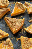 Butternut pumpkin tart with walnut crumbs Royalty Free Stock Photography