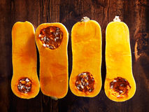 Butternut squash overhead photo Stock Image