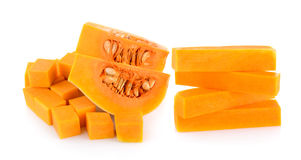 Butternut squash slice isolated Stock Image