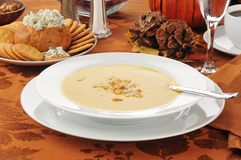 Butternut squash soup Royalty Free Stock Photos