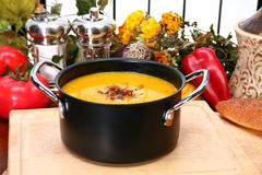 Butternut Squash Soup Royalty Free Stock Photography