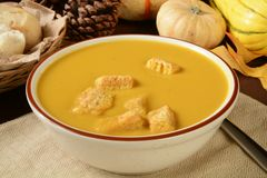 Butternut squash soup Stock Images