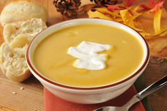 Butternut squash soup Stock Photo