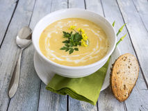 Butternut squash soup Royalty Free Stock Image