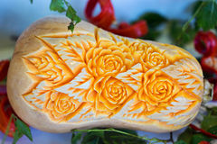 Butternut squash vegetable carving Stock Images