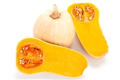 Butternut Squash On White Stock Photos