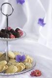 Butterplätzchen-Kekskekse, handgemachte, dunkle Schokolade Lizenzfreie Stockfotografie