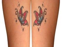 butterrfly tatueringar royaltyfria foton
