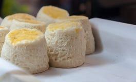 Butterscones durch Nahaufnahme Lizenzfreie Stockfotografie
