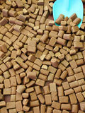 Butterscotch background. Background of brown butterscotch blocks for sale stock images
