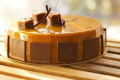 Butterscotch cake stock image