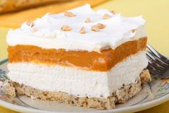 Butterscotch Creamcheese Dessert Royalty Free Stock Images