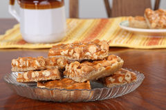Butterscotch Peanut Bars Stock Photo