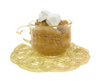 Butterscotch With Whip Cream Side View Stock Image