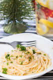 Buttery parmesan pasta Royalty Free Stock Photo