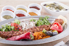 buttery turkish kebab iskender Стоковые Фото
