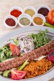 buttery turkish kebab iskender Стоковое Изображение