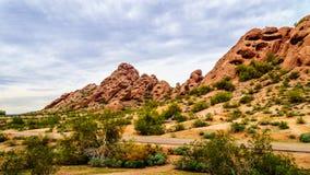 Buttes красного песчаника Papago паркуют около Феникса Аризоны Стоковая Фотография RF