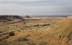 Buttes. And mesas in the northwest corner of Oklahoma stock photography