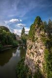 Buttes chaumont Parc Париж стоковая фотография rf