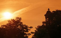 Buttes Chaumont park stock images