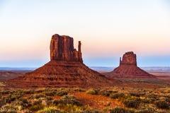 Buttes en vallée de monument Image stock