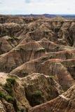 Buttes in het Nationale Park van Badlands, BR Stock Foto