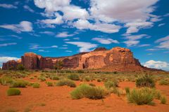Buttes am Monument-Tal in USA Lizenzfreie Stockfotografie
