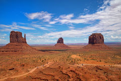 Buttes at Monument Valley Royalty Free Stock Photos