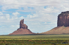 Buttes in the Monument Valley Royalty Free Stock Images