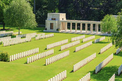Buttes Nieuwe Britse Begraafplaatswereldoorlog 1 stock foto