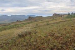 Buttes in a river Selenga valley. Stock Photos