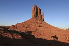 Buttes w Pomnikowej dolinie Obrazy Royalty Free