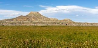 ButteWind River för övretabell hög reservation Wyoming västra USA arkivbild