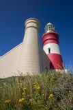 Buttice przylądka Agulhas latarnia morska Zdjęcia Royalty Free