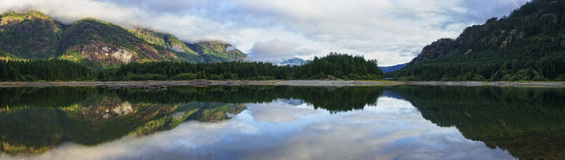 Buttle jezioro, Strathcona park, Vancouver wyspa, kolumbiowie brytyjska Fotografia Royalty Free