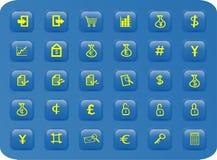 butto finansów sieć jednostek gospodarczych Zdjęcie Royalty Free