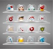 butto kreskówki szklanego hearth medyczny przejrzysty Obraz Royalty Free