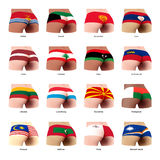 Buttock with flag Stock Images