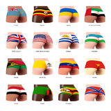 Buttock with flag. Buttocks of  woman with flag T-Z Stock Photo