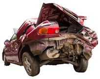Buttocks red car accident Stock Image