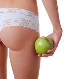Buttocks in white panties Royalty Free Stock Images