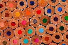 Buttom av den färgrika crayonen för chidren Royaltyfri Fotografi
