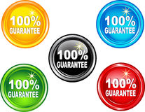 Button  100 % guarantee. Vector illustration of button 100% guarantee Stock Images