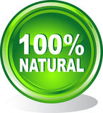 Button 100% natural. Vector illustration of button 100% natural Stock Photo
