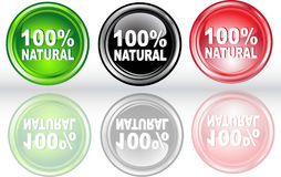 Button 100% natural. Vector illustration of button 100% natural Royalty Free Stock Photo