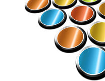 Button. Many button with different colors over white background Royalty Free Stock Images