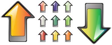button 11 ikony ilości dobrej glansowana serii Fotografia Royalty Free