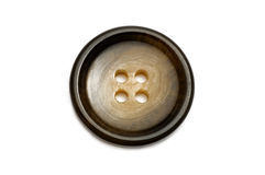 Button. Plastic brown button isolated on white background Royalty Free Stock Images